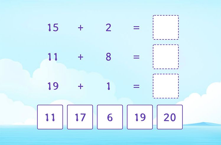 Match by Adding to a Teen Number