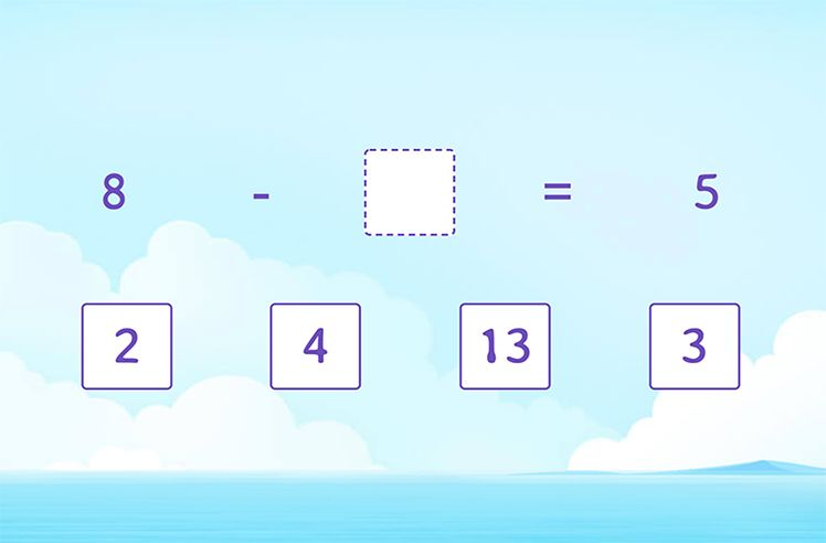 Find Missing Numbers in Subtraction Sentences