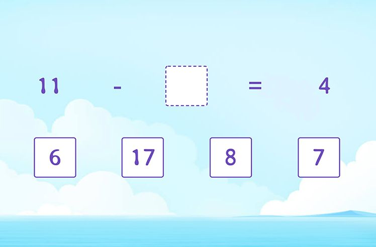 Identify Missing Number in Subtraction Sentence