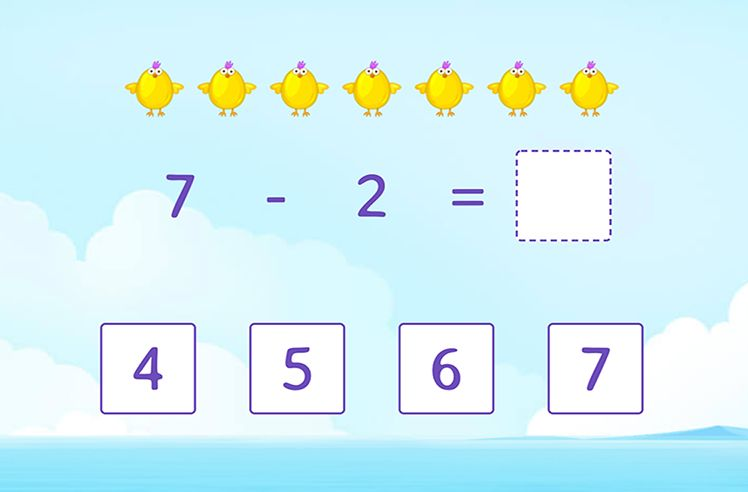 Word Problems: Subtracting Within 10