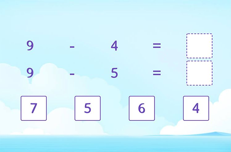 Complete the Related Subtraction Facts