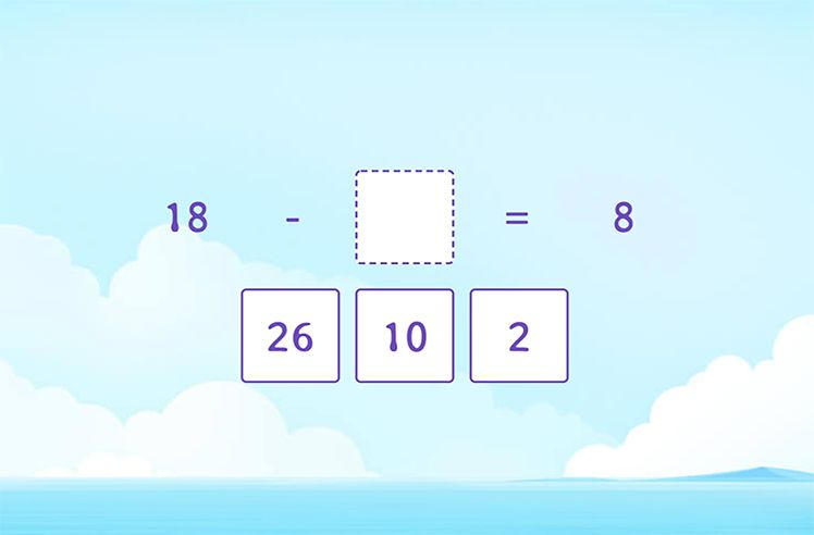 Missing Number to Subtract 10