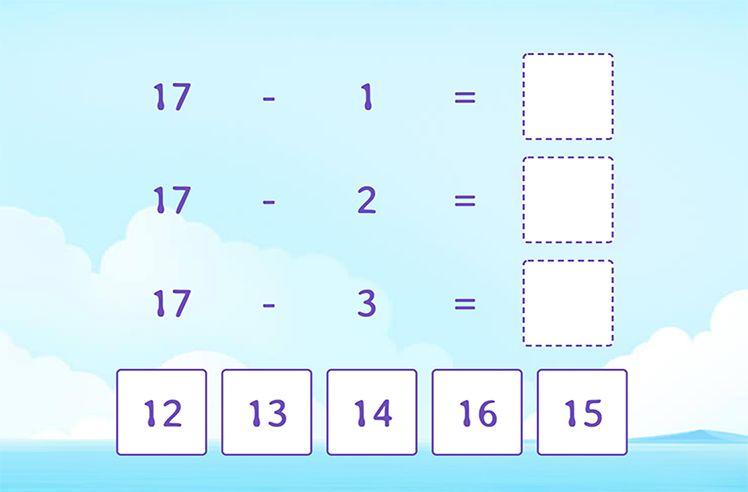 Subtract 1, 2, 3