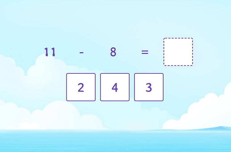 Subtract 8 and 9 from a Teen Number