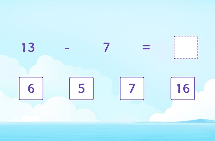 Solve the Subtraction Sentence
