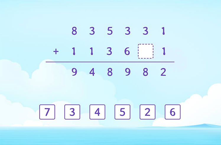 Identify and FIll the Missing Number in the Addition Solution