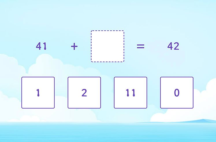 Complete the Given Addition Sentence