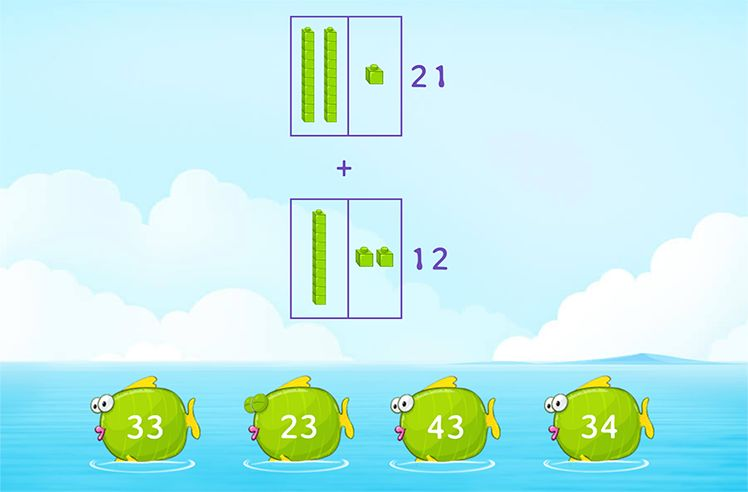 Add Using Base-10 blocks