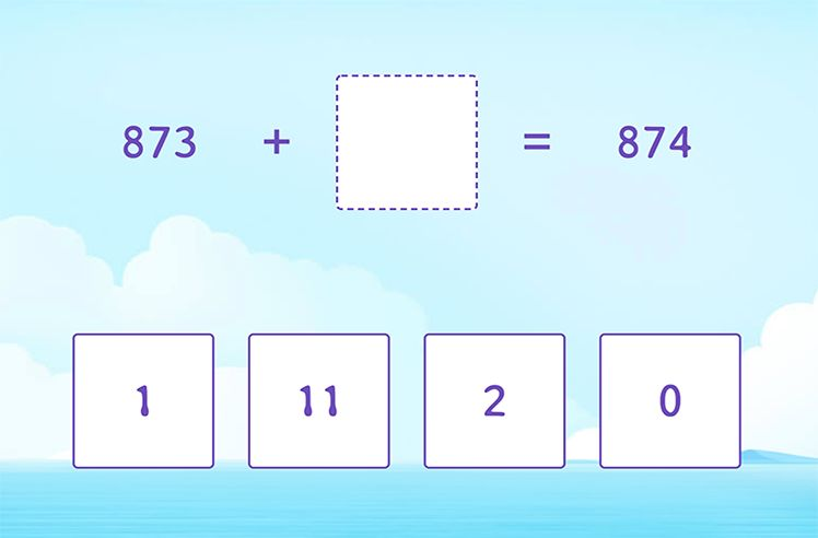 Missing Number in 3-Digit and 1-Digit Addition