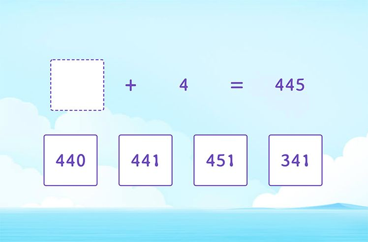 Identify the Missing Number in Addition Sentences