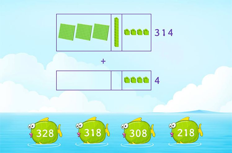Use Models to Add 3-Digit and 1-Digit Number