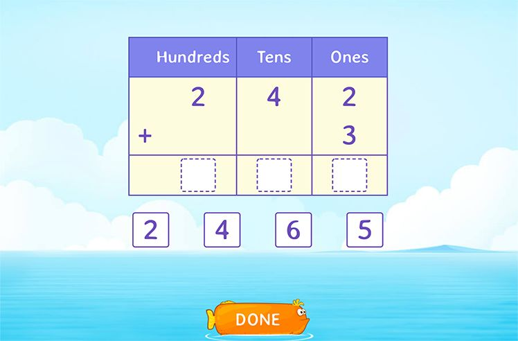 Add 3-Digit and 1-Digit Number Using Place Value