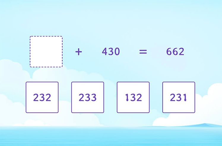 Find the Missing Numbers to Complete the Sentence