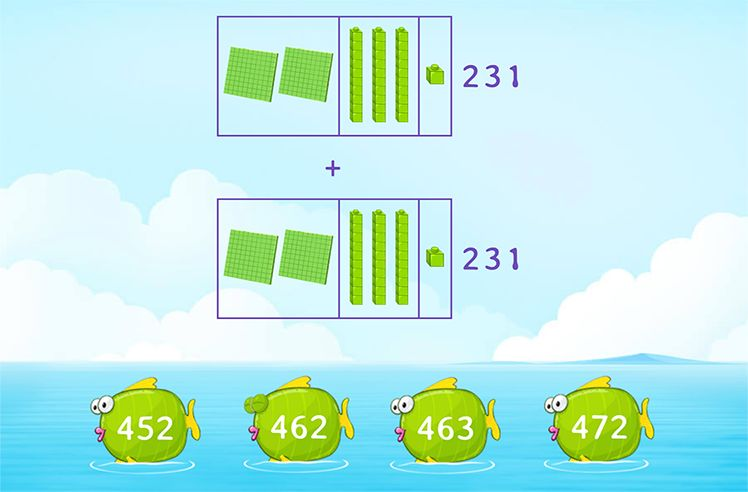 Use Base 10 Blocks to Add 3-Digit Numbers