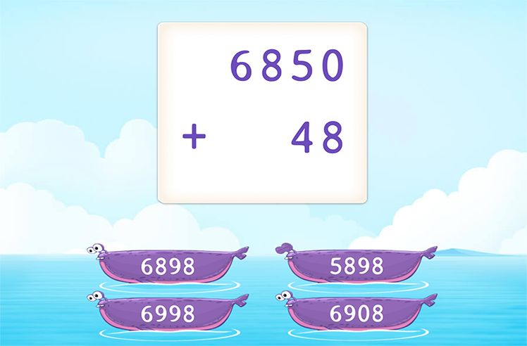 Add 4-Digit and 2-Digit Numbers without Regrouping