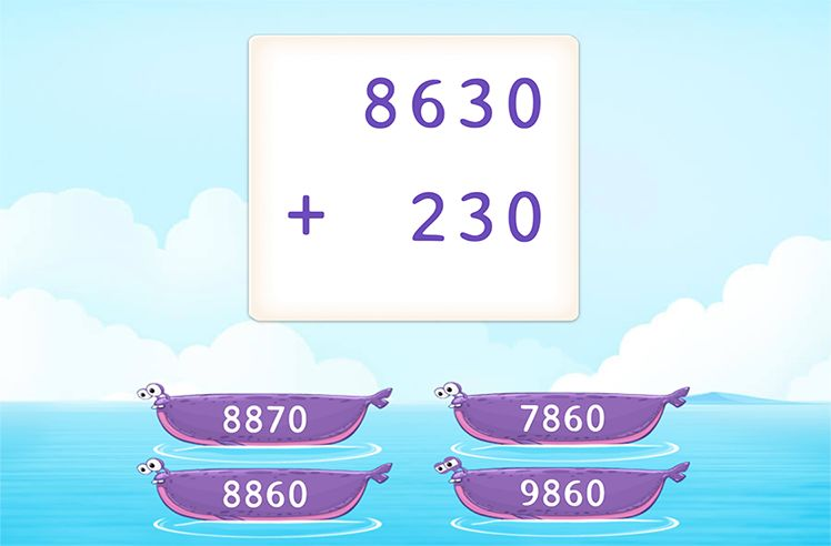 Add 4-Digit and 3-Digit Numbers without Regrouping