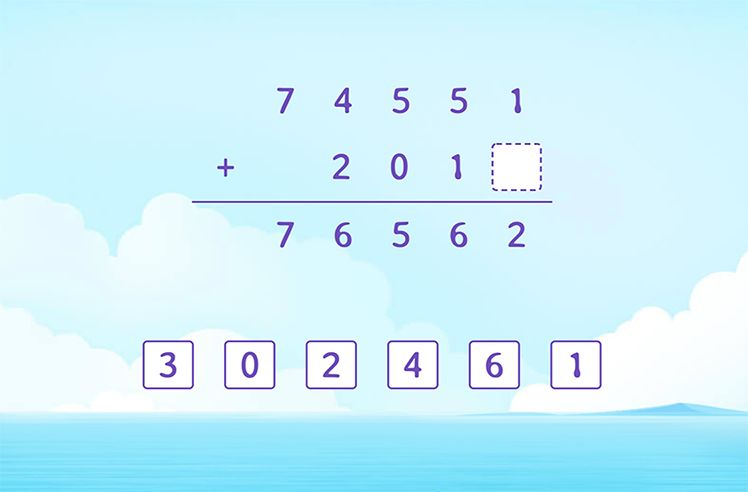 FIll the Missing Number in the Addition Solution
