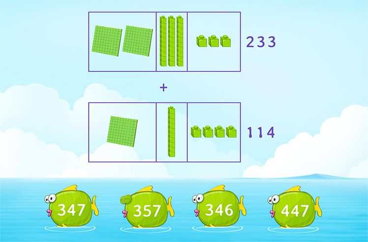 Add 3-Digit and 3-Digit Numbers Using Model