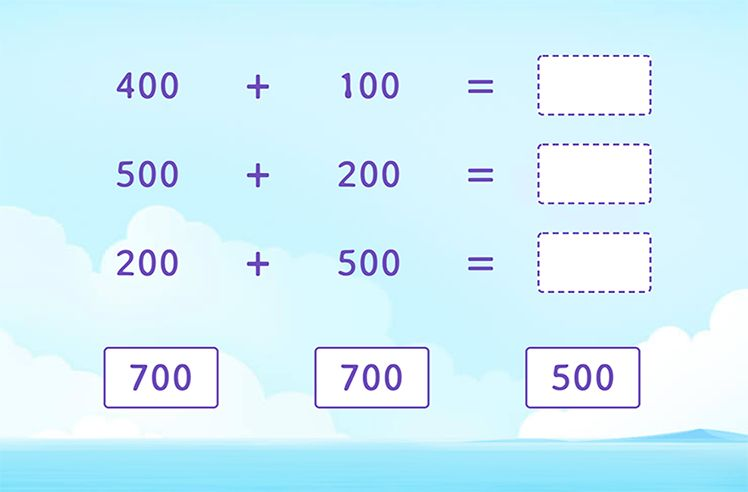 Solve by Adding Multiples of 100