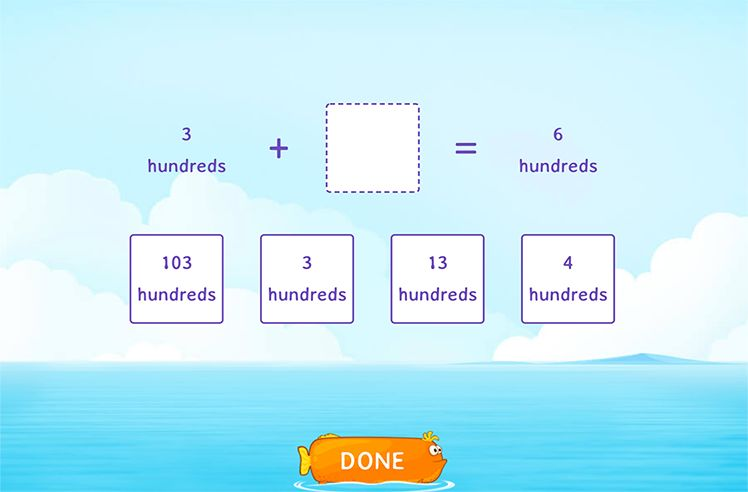 Solve by Identifying the Correct Multiple of 100