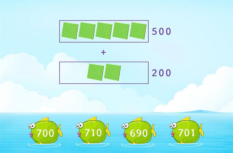 Add Multiples of 100 Using Base-10 Blocks