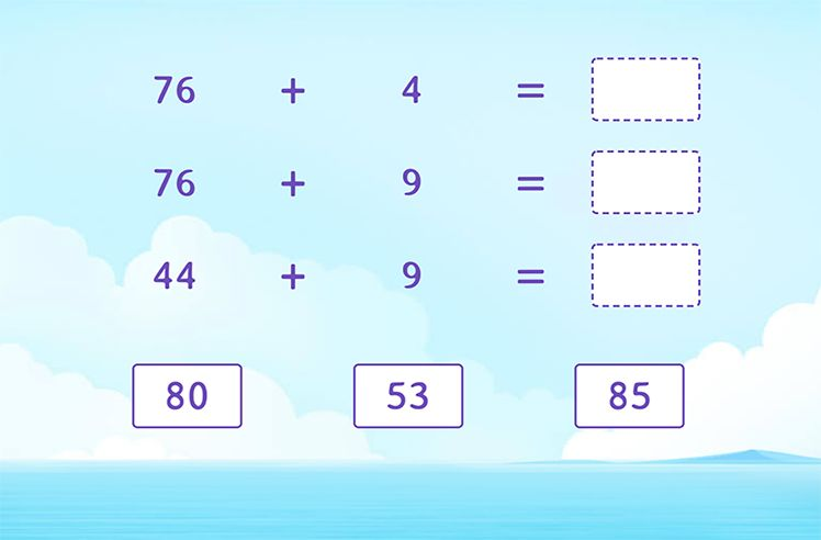 Complete the Addition Sentences By Regrouping
