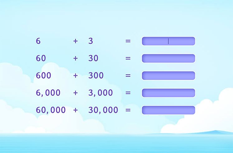 Identify the Addition Pattern and Fill the Correct Answers
