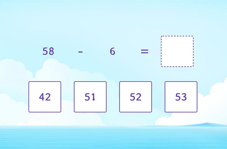 Find the Difference by Subtracting Multiples of 10
