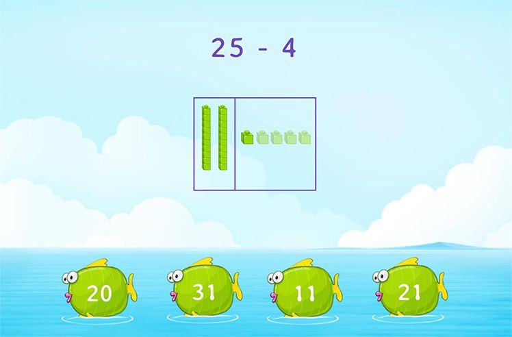 Subtract Using Base-10 Blocks