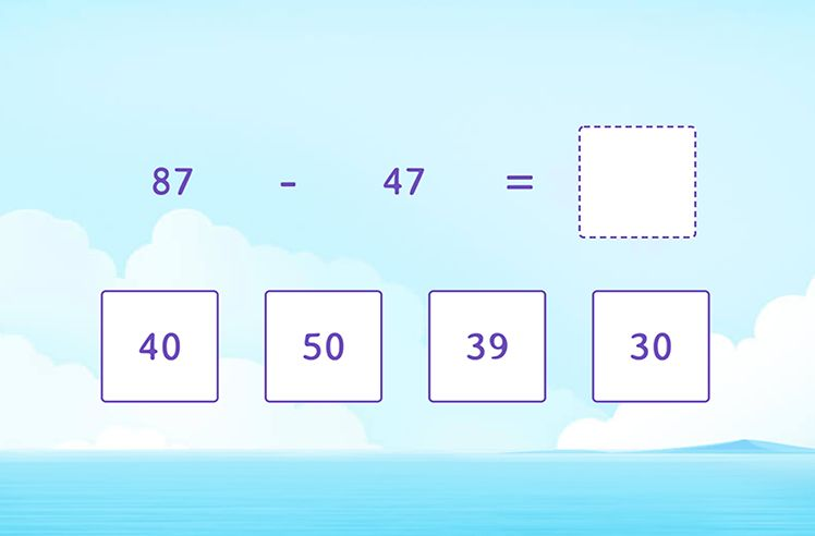 Subtract 2-Digit Numbers Without Regrouping