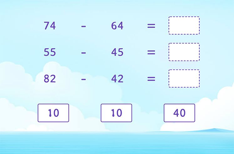Subtract to Complete the Subtraction Sentence
