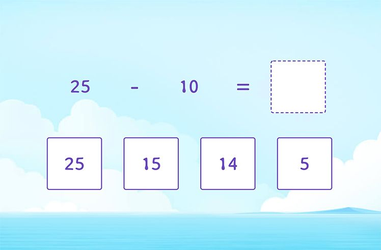 Subtract Multiples of 10 from 2-Digit Numbers