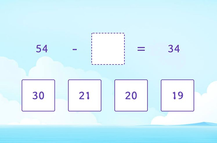 Find the Missing Number in Subtraction Sentence