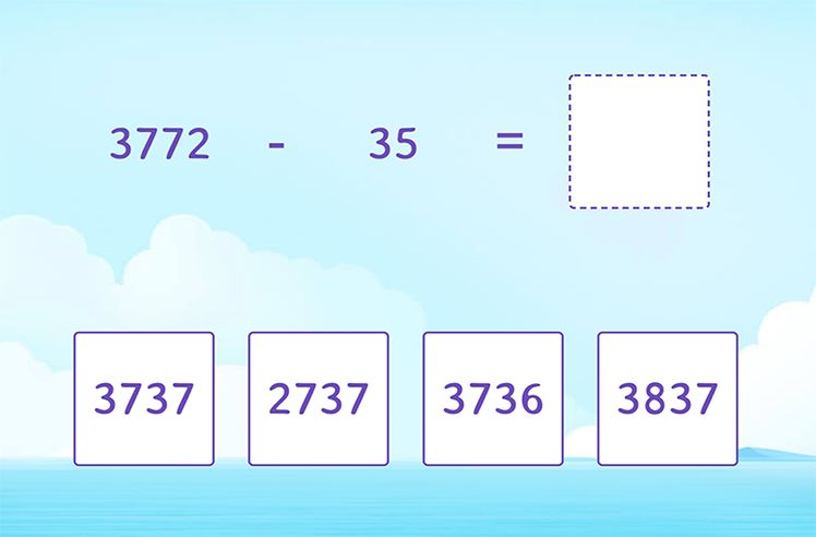 Regroup and Subtract 2-Digit From 4-Digit Numbers