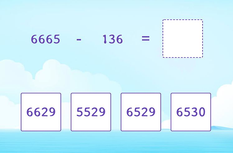 Regroup and Subtract 3-Digit From 4-Digit Numbers