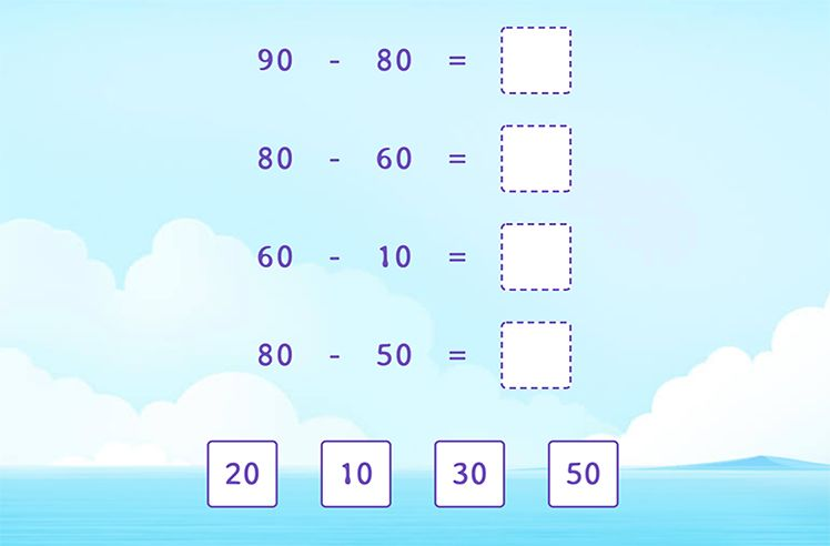 Match the Difference of Multiples of 10