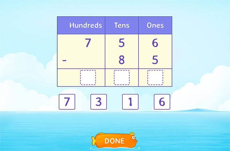 Use place Value to Subtract by Breaking Hundreds