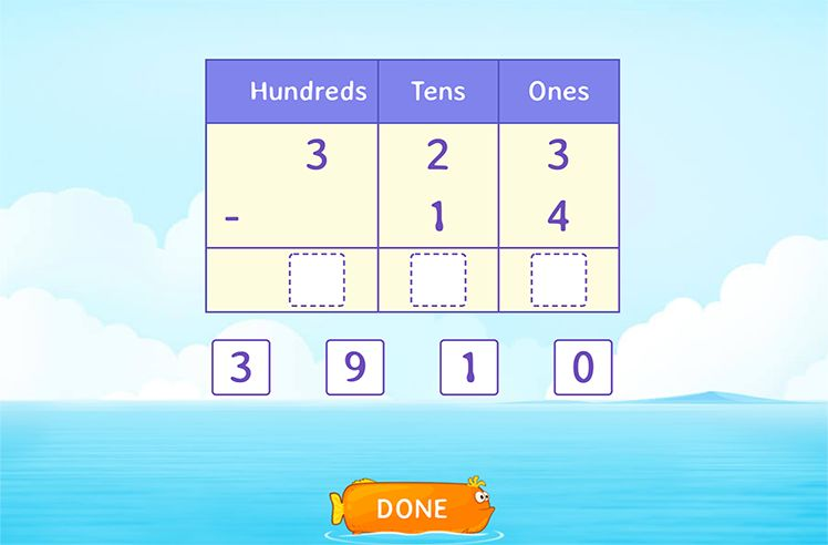 Use place Value to Subtract by Breaking Tens