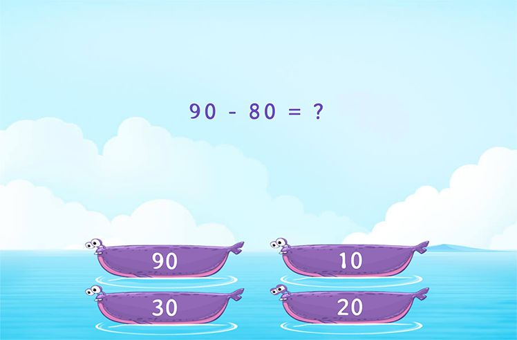 Identify the Difference of Multiples of 10