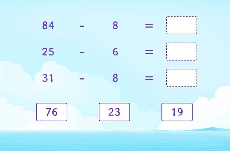 Complete the Subtraction Sentences