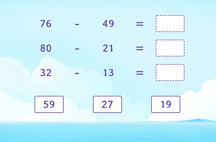 Complete Subtraction Sentences by Regrouping