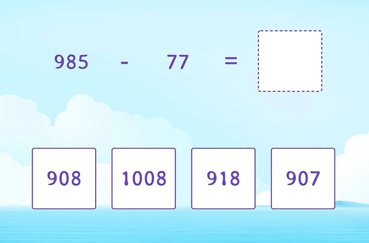 Regroup to Subtract 2-Digit From 3-Digit Numbers