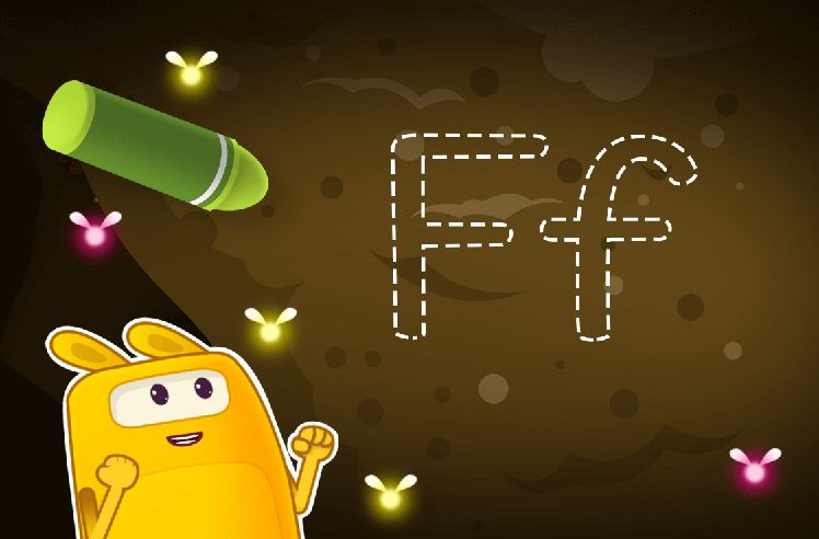Learn to Trace the Letter F