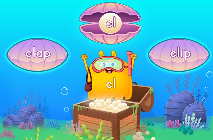 Explore Words With Initial L Blends - cl