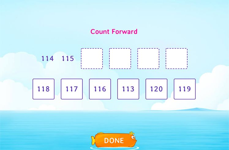 Count Forward to Find Missing Numbers