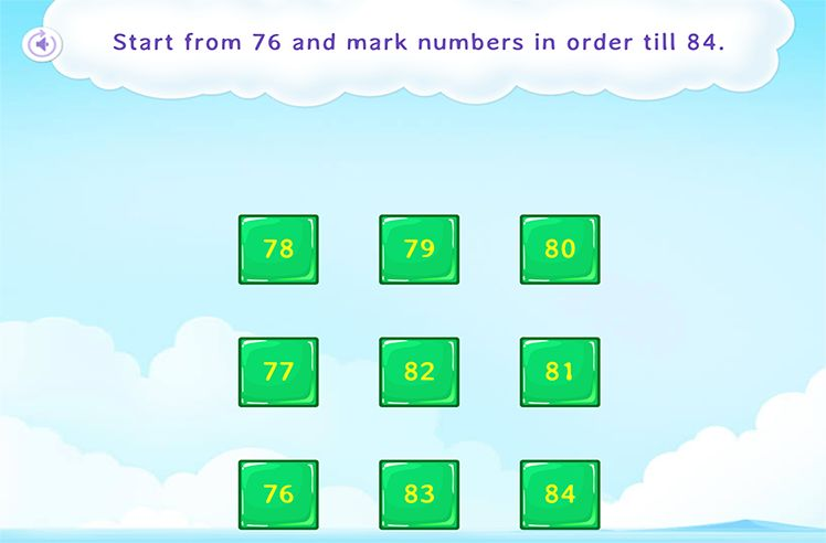 Select the Numbers in Sequence