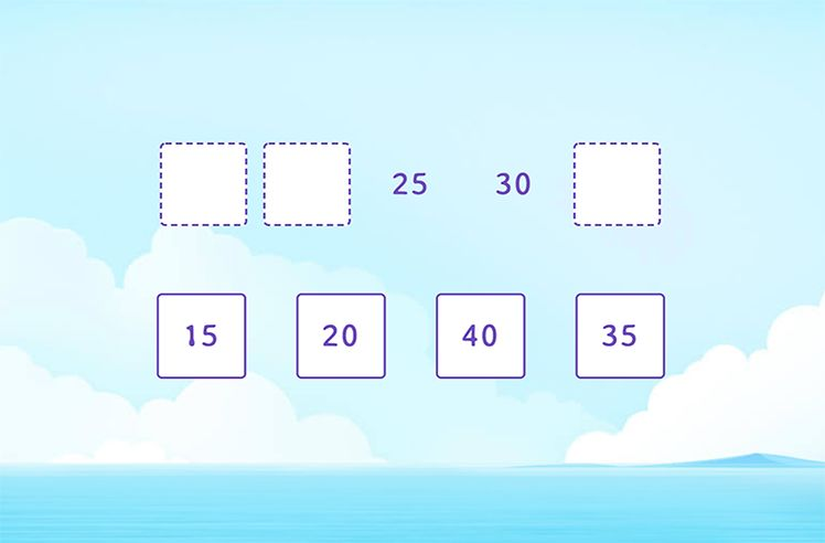 Complete the Skip Counting Sequence
