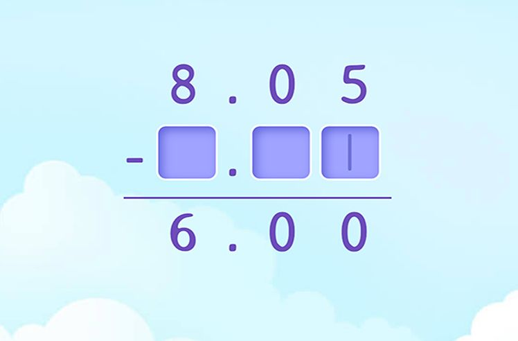 Complete the Subtraction