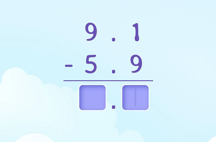 Subtract Decimals with Regrouping