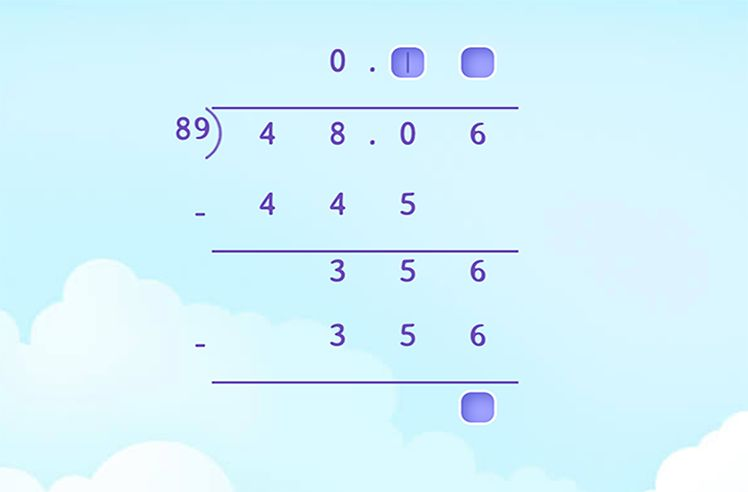 Divide Decimals by 2-digit Whole Numbers